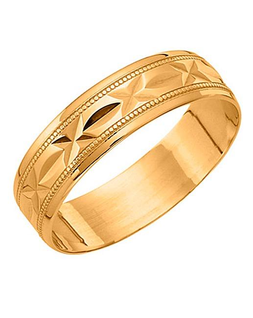 9ct gold gents wedding band jacamo