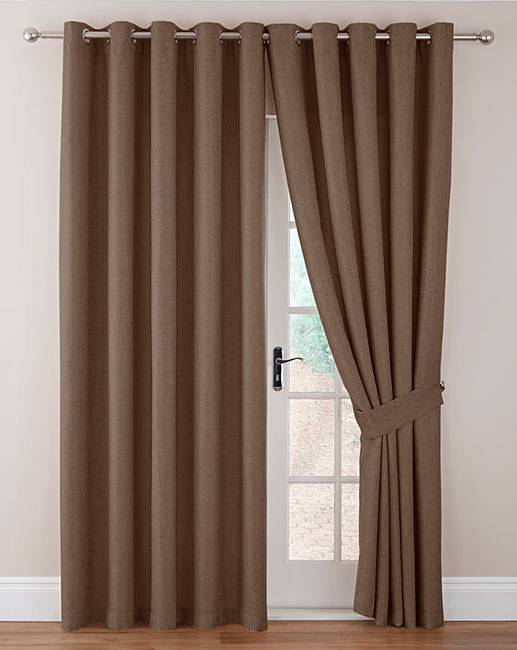 Imogen Basket Weave Eyelet Curtains | J D Williams