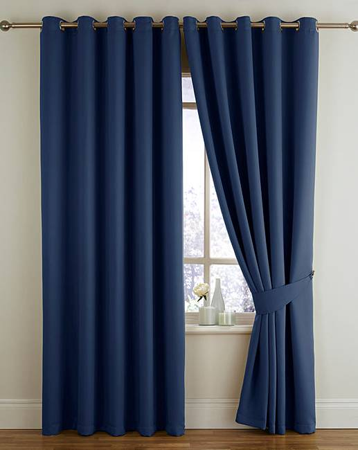 Woven Blackout Thermal Eyelet Curtains Home Essentials