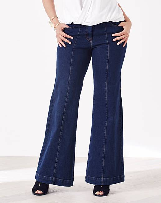 Simply Be Pixie Wide Leg Jeans Reg | Simply Be