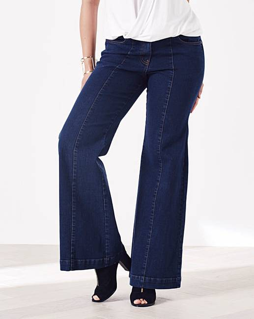 Simply Be Pixie Wide Leg Jeans Long | Simply Be