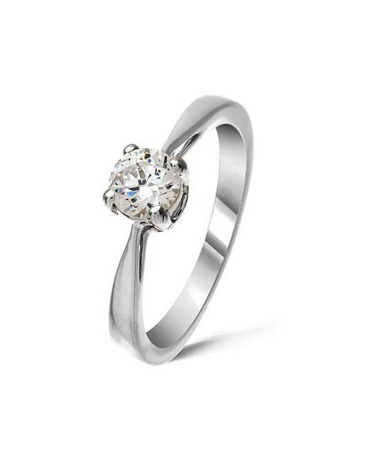 9ct White Gold 0 5Ct Diamond Ring