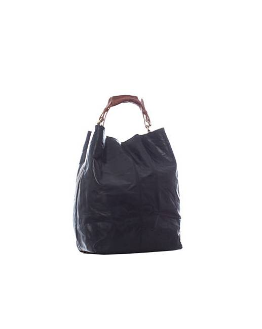 Justified Genuine Leather Handbag  Simply Be