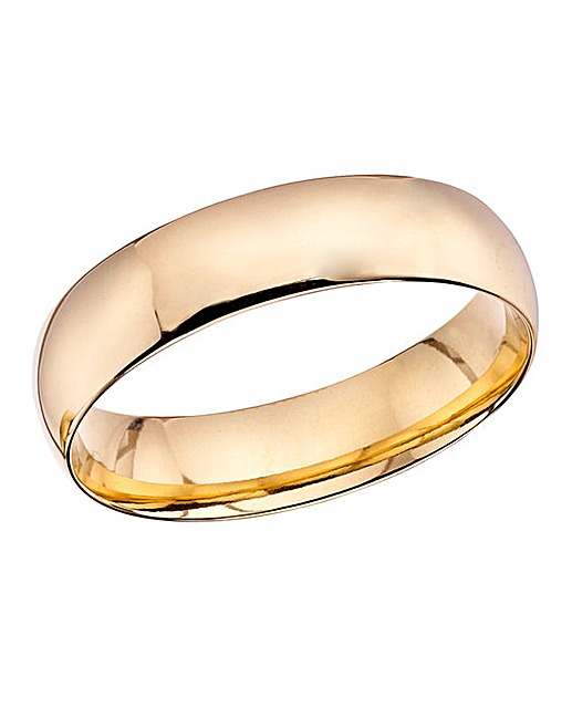 9ct gold mens court shape wedding band jacamo