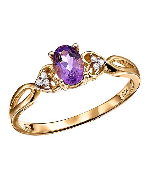 9 carat gold set gemstone ring julipa