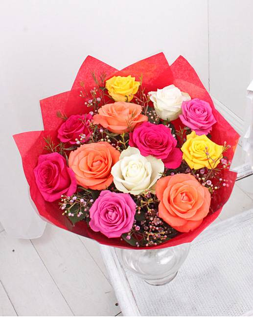 Colourful Valentine Roses