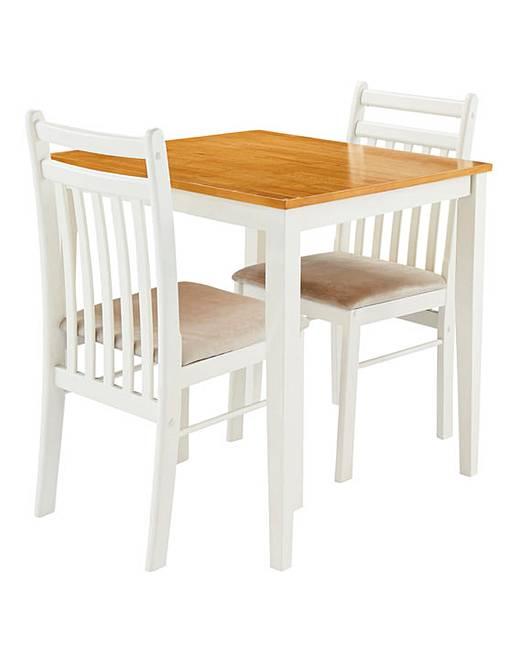 southwold compact dining table with 2 chairs