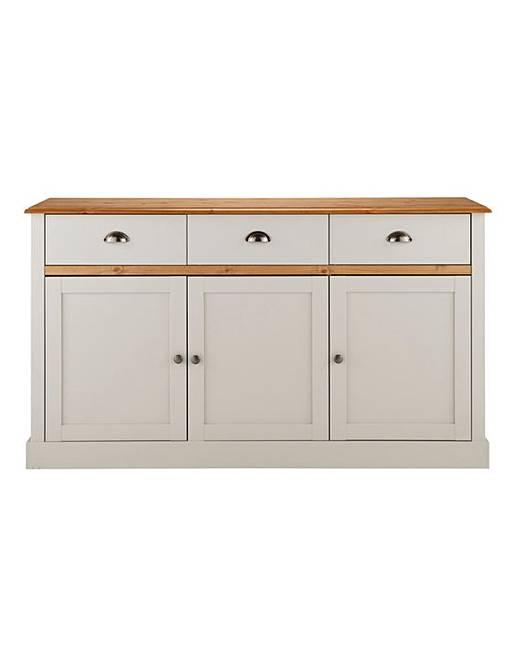 York 3 door 3 drawer sideboard j d williams for Sideboard york