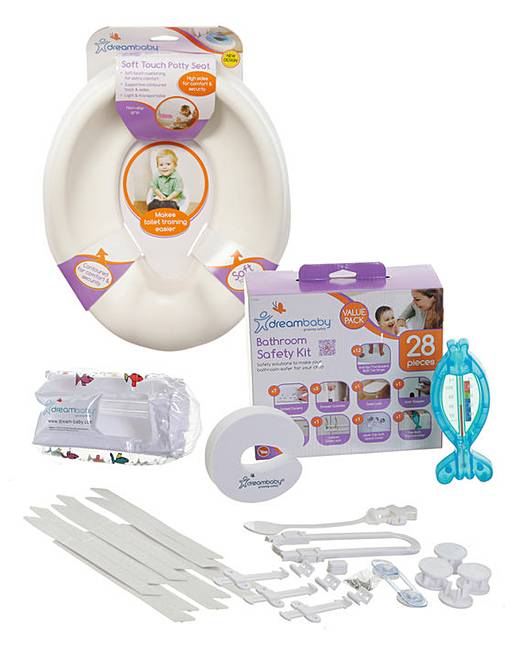 Dreambaby bathroom essentials kit fashion world for Bathroom essentials