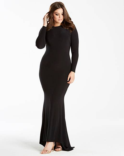 Simply Be by Night Fishtail Maxi Dress | Simply Be