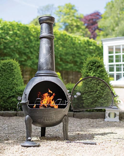 La hacienda large steel chimenea grill j d williams - La hacienda chimenea ...