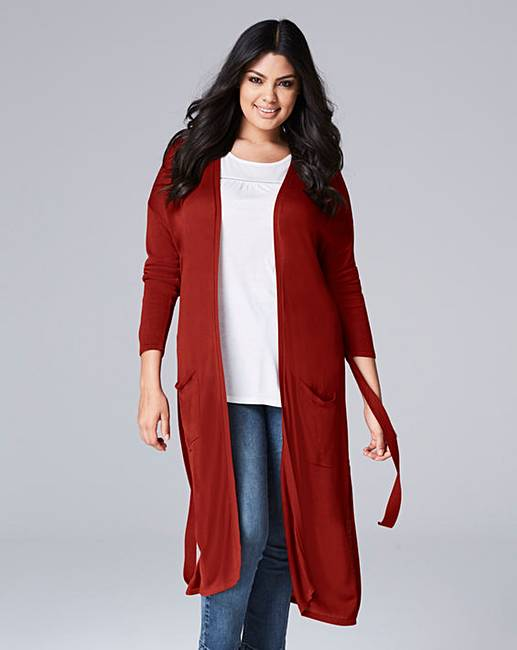 Belted Maxi Cardigan | Simply Be