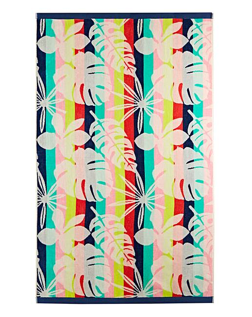 Funky floral beach towel home beauty gift shop for Funky household gifts