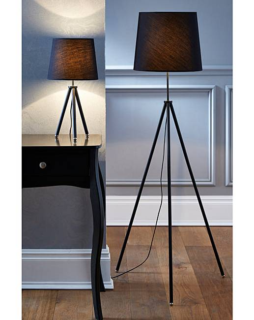 Tripod table floor lamp set of 2 j d williams tripod table floor lamp set of 2 aloadofball Image collections