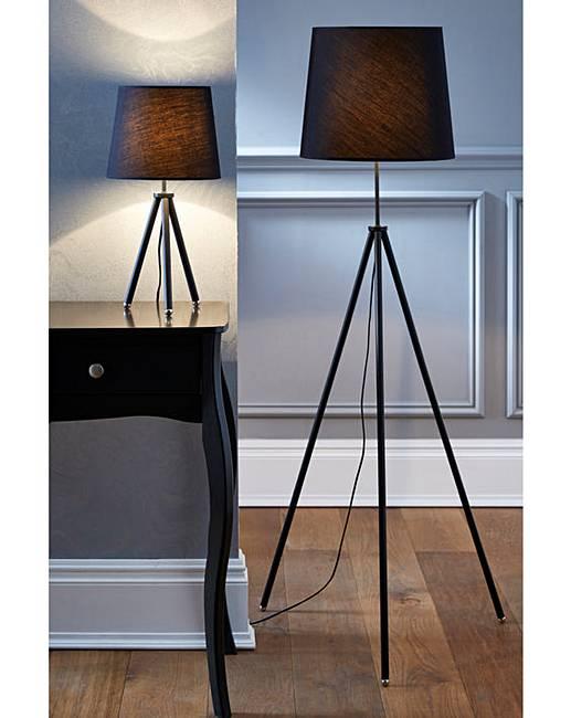 Tripod Table U0026 Floor Lamp Set Of 2