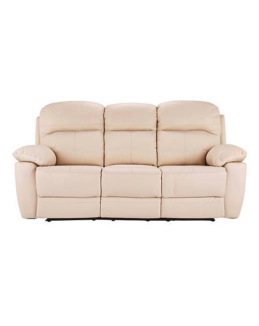 Roma leather recliner three seater sofa j d williams - Sofa roma ...