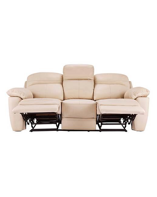Roma leather recliner three seater sofa ambrose wilson - Sofa roma ...