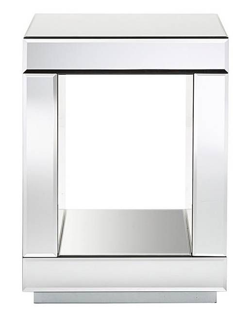 Monaco Mirrored Cube Side Table