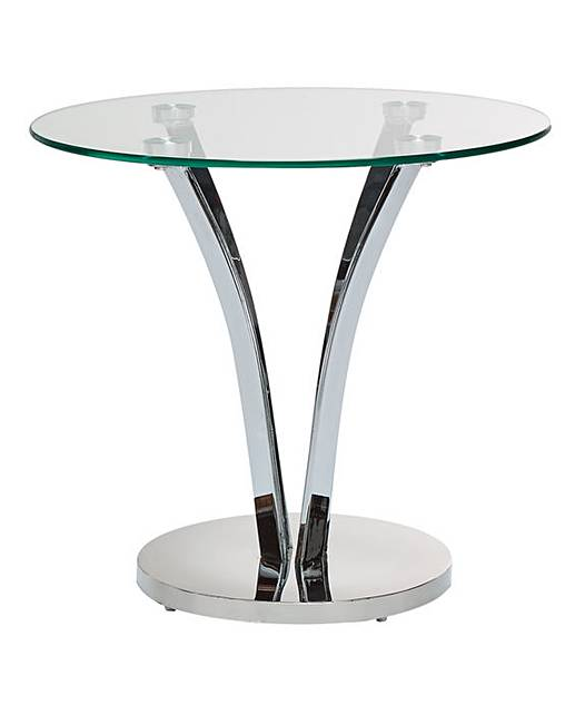 Chrome And Glass Side Tables