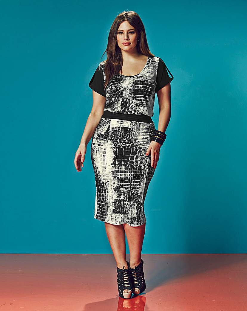 Anna Scholz Print Pencil Skirt
