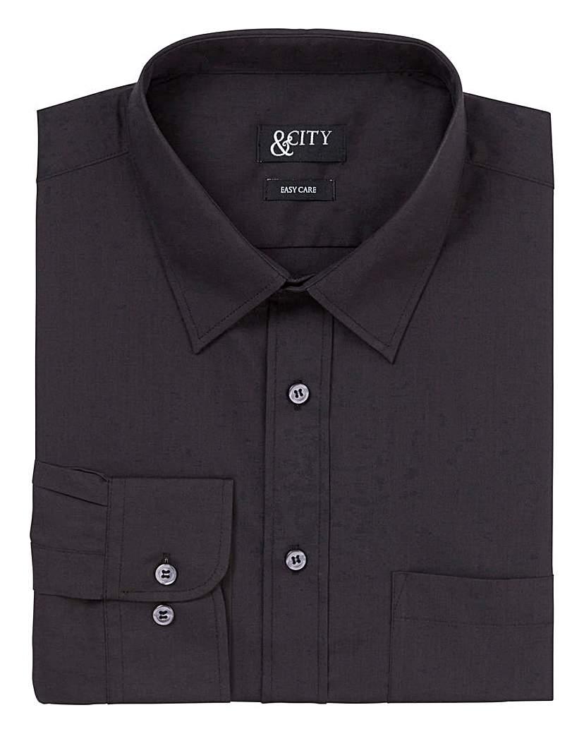&City Tall Single Cuff Plain Shirt