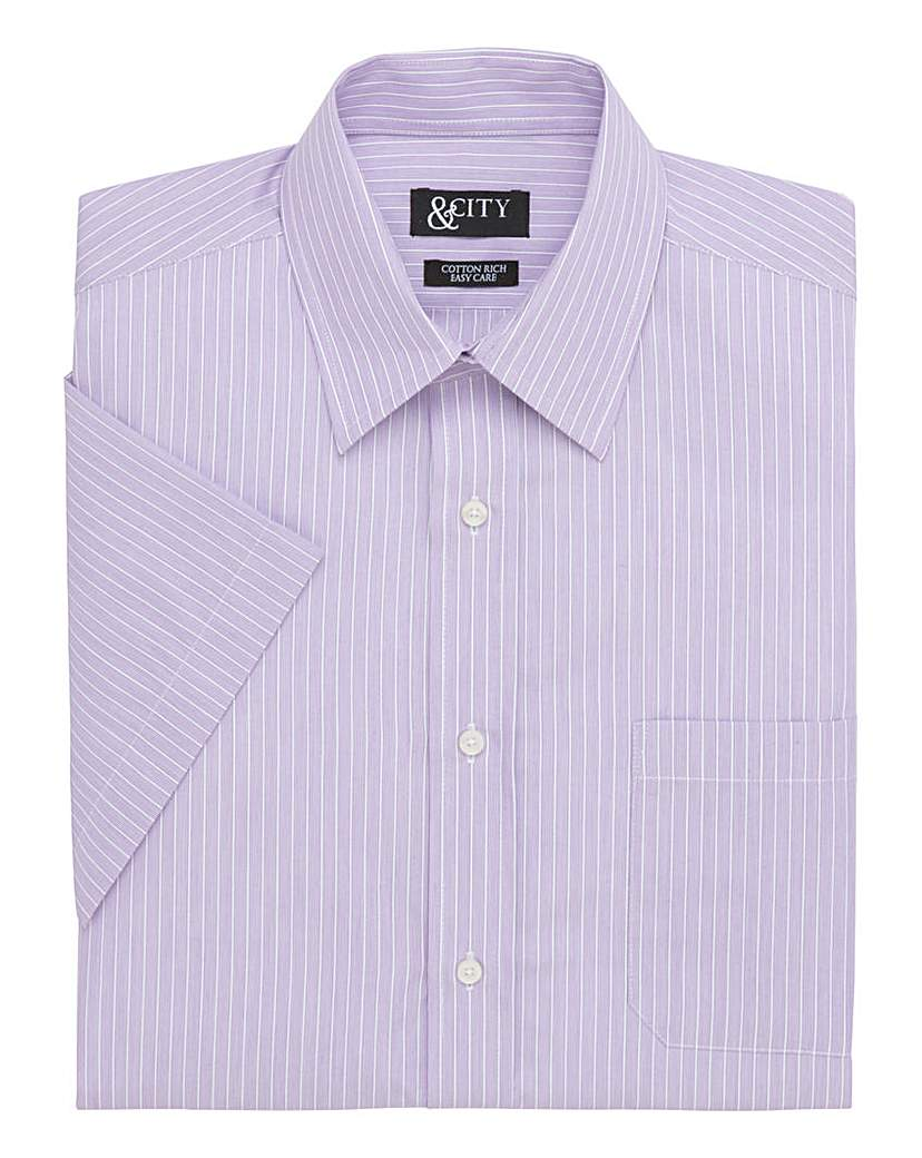 Image of &City Mighty Narrow Stripe Shirt