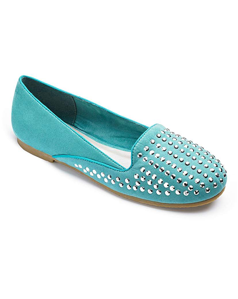 Image of Sole Diva Studded Loafer EEE Fit