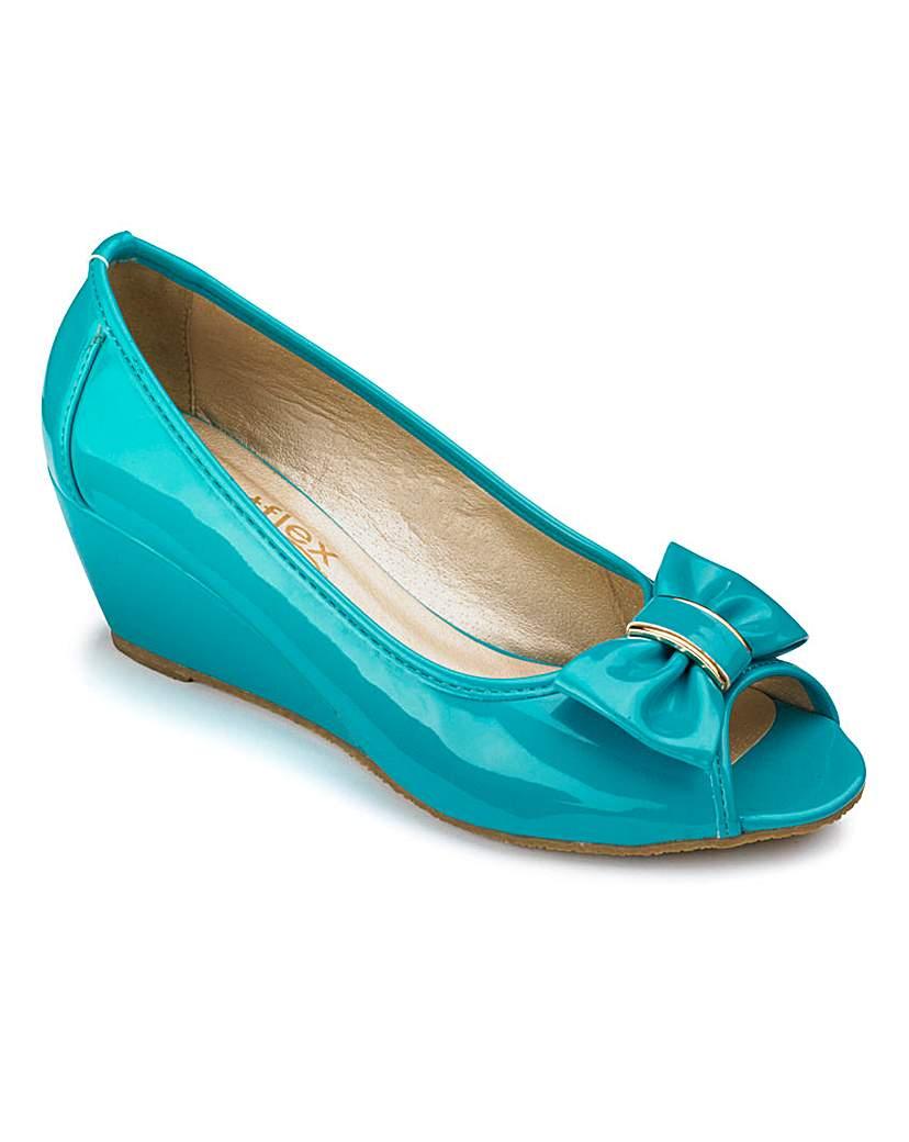 Footflex by Lotus Peep Toe Shoes E Fit