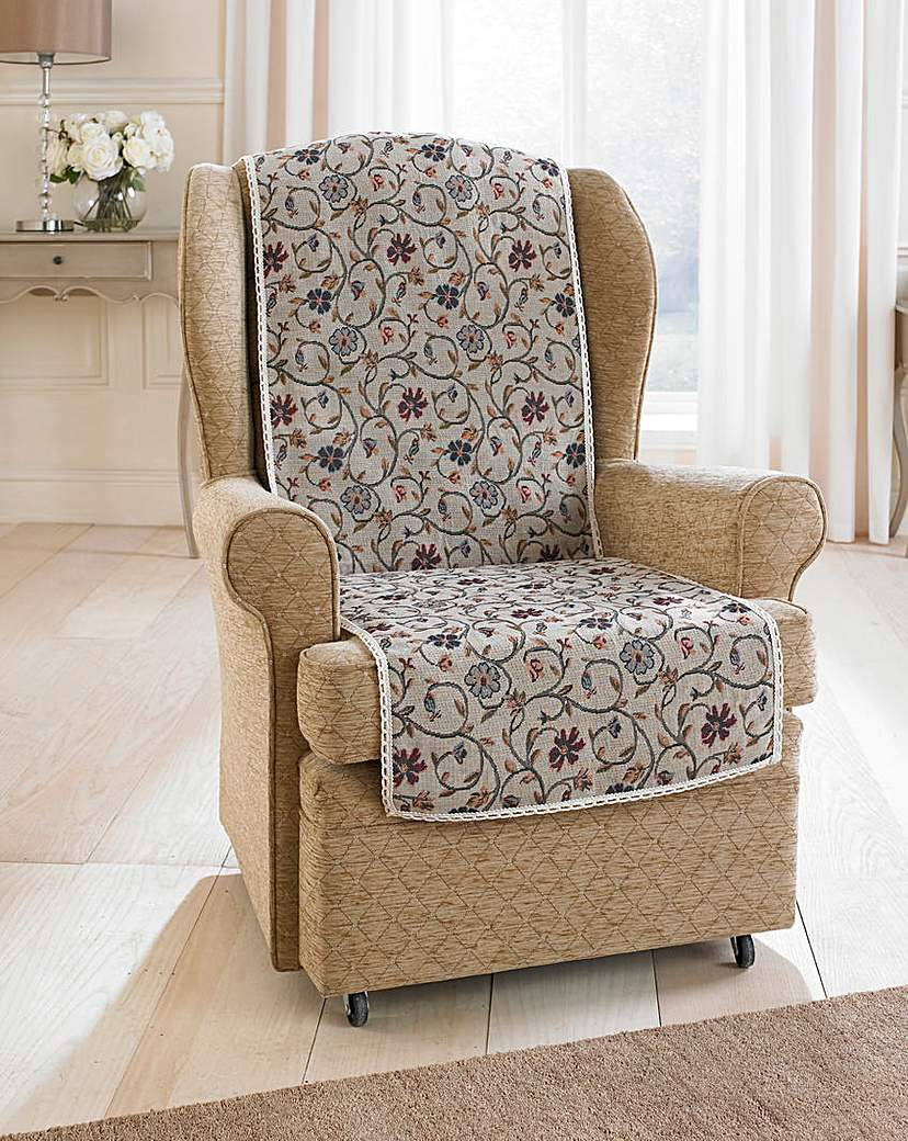 Image of Floral Jacquard Furniture Protector