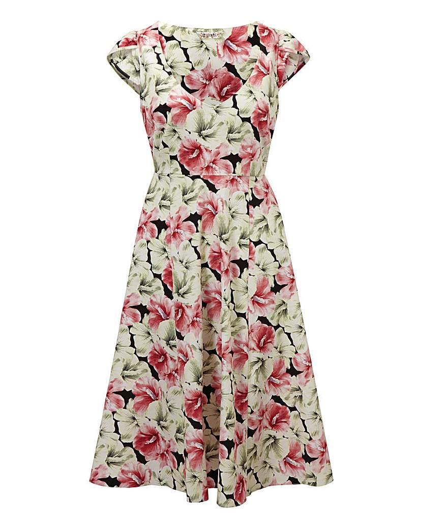 Joe Browns Colourful Coral 50s Dress £25.00 AT vintagedancer.com