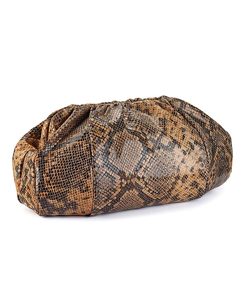 Image of Claire Richards Animal Skin Clutch Bag