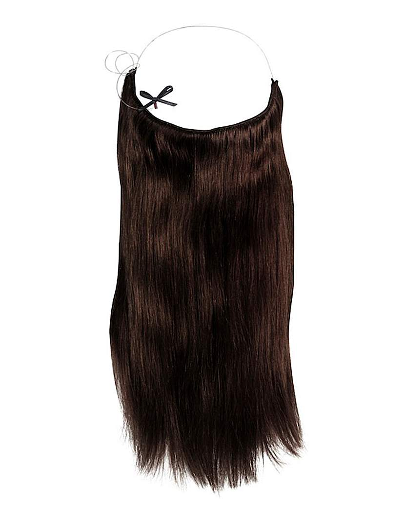 Halo 16in Hair Extensions Dark Brown