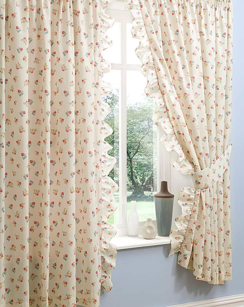 Image of Amelia Pencil Pleat Curtains & Tiebacks