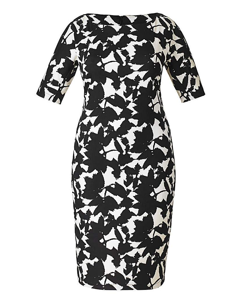 Image of AX Paris Leaf Print Bodycon Dress