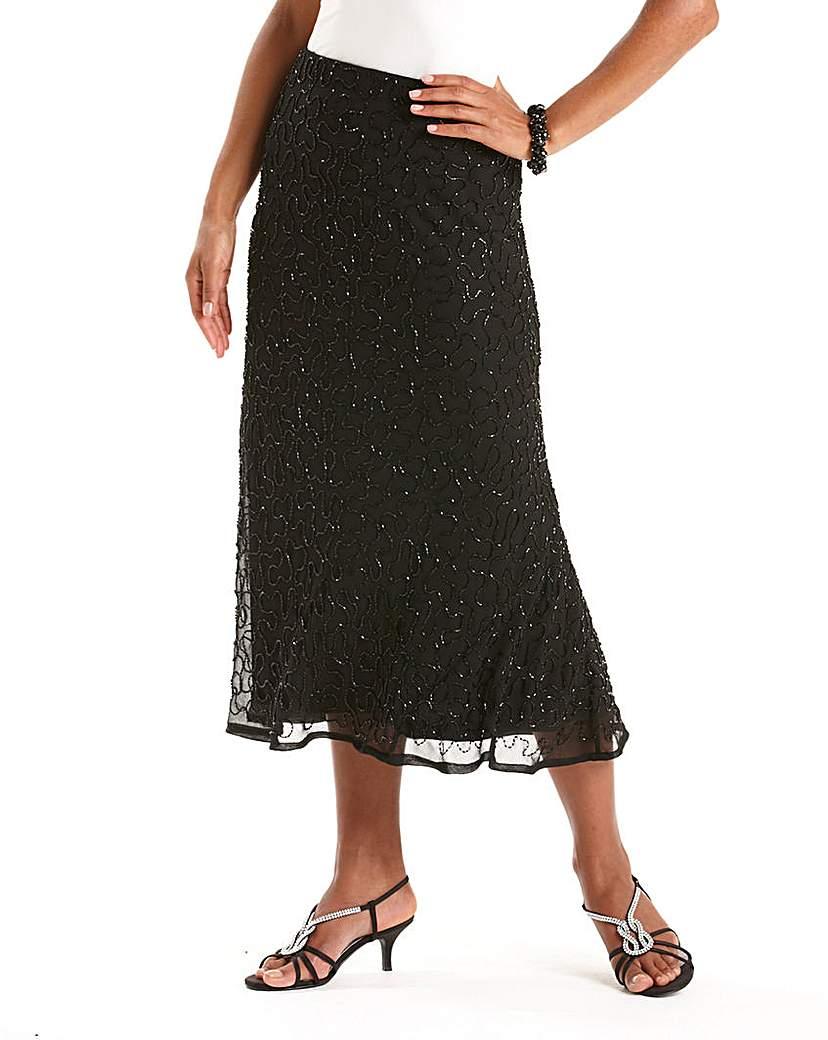 Tea Length 1930s Style Skirts for Sale Joanna Hope Bias Cut Beaded Skirt £36.50 AT vintagedancer.com