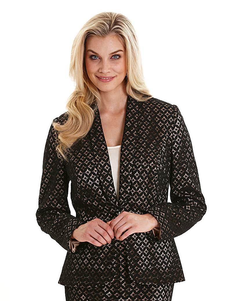 Joanna Hope Contrast Lined Lace Jacket