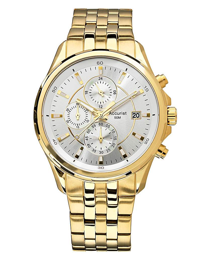 Image of Accurist Gold-tone Chronograph Watch