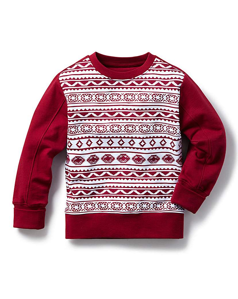 Image of KD MINI Printed Crew Neck Sweat (2-7yrs)