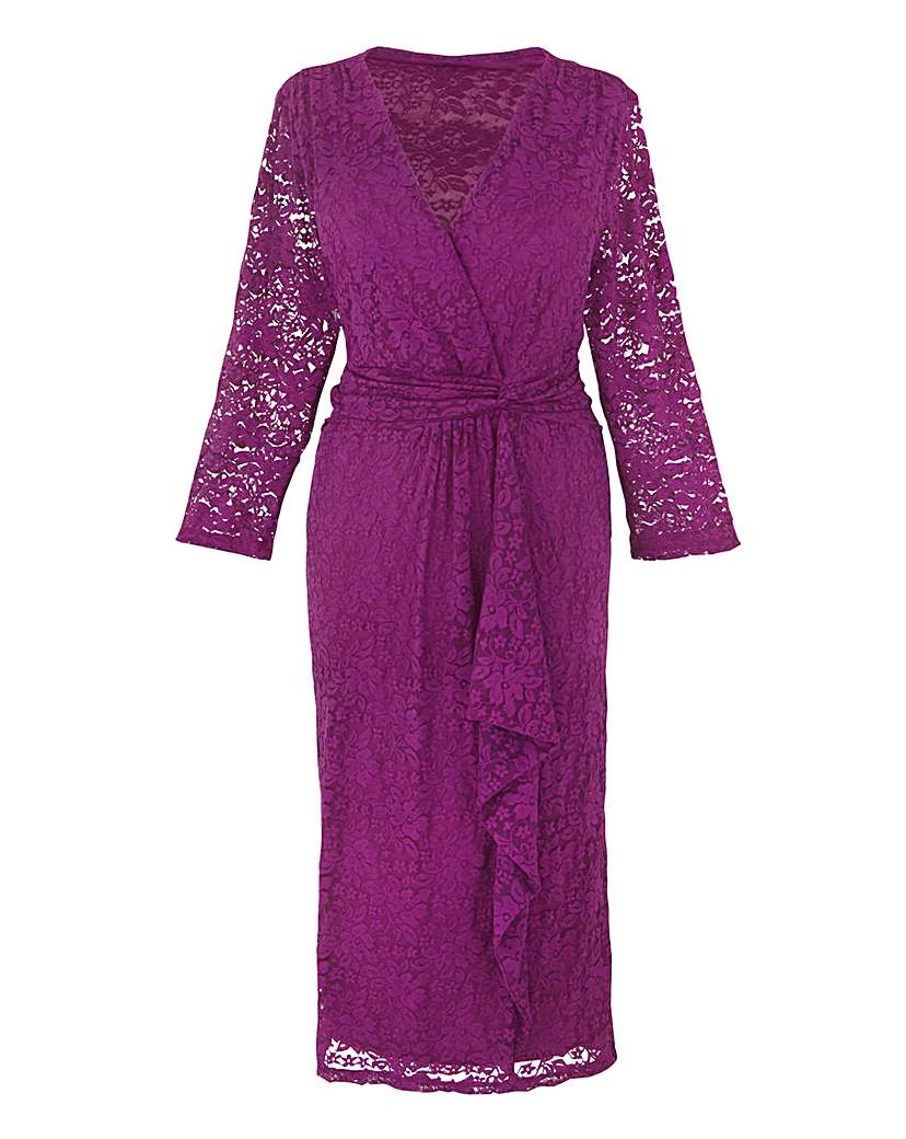 Changes Boutique Wrap Lace Dress