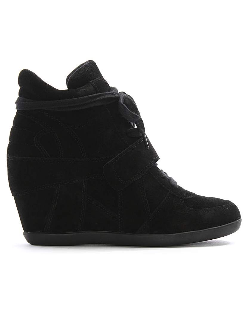 Ash Suede High Top Wedge Trainer