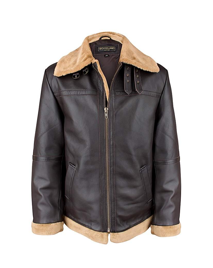 Image of Woodland Leather Flying Jacket