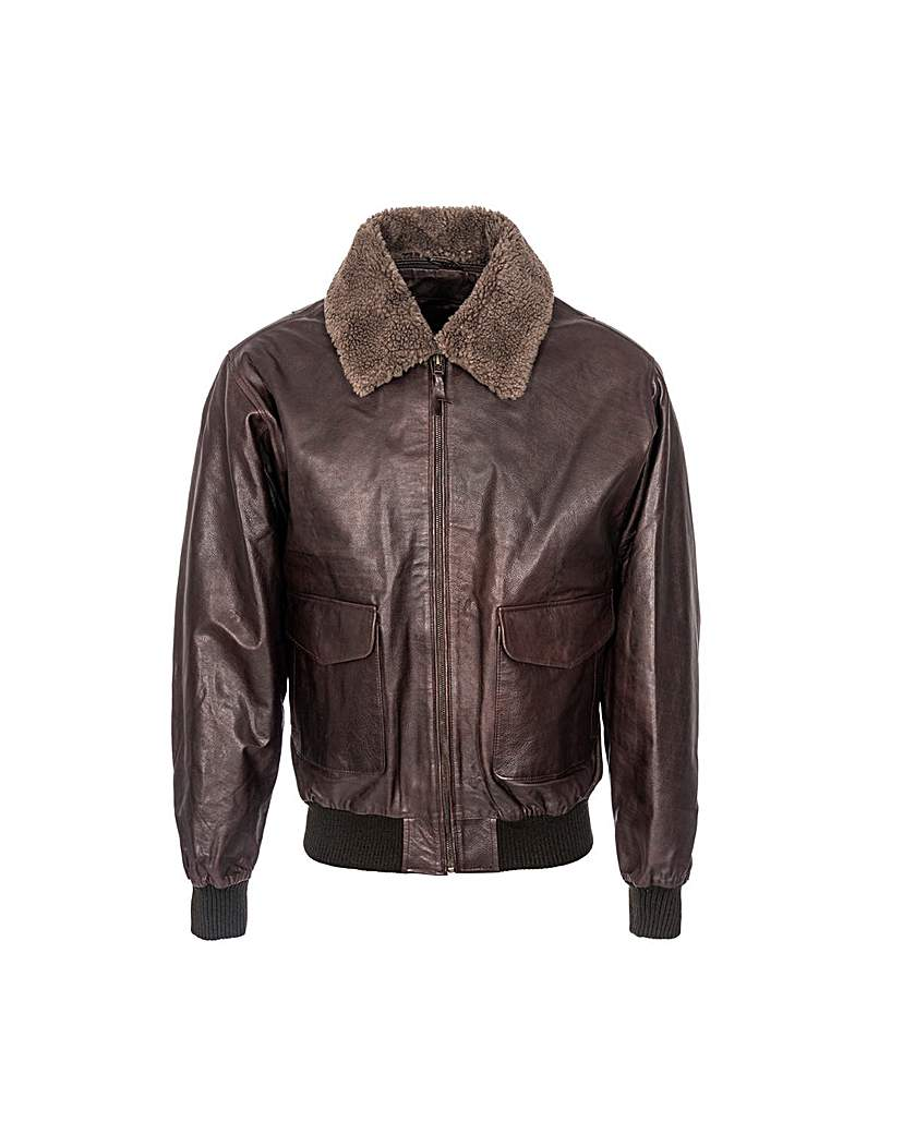 Woodland Leather Aviator Jacket.