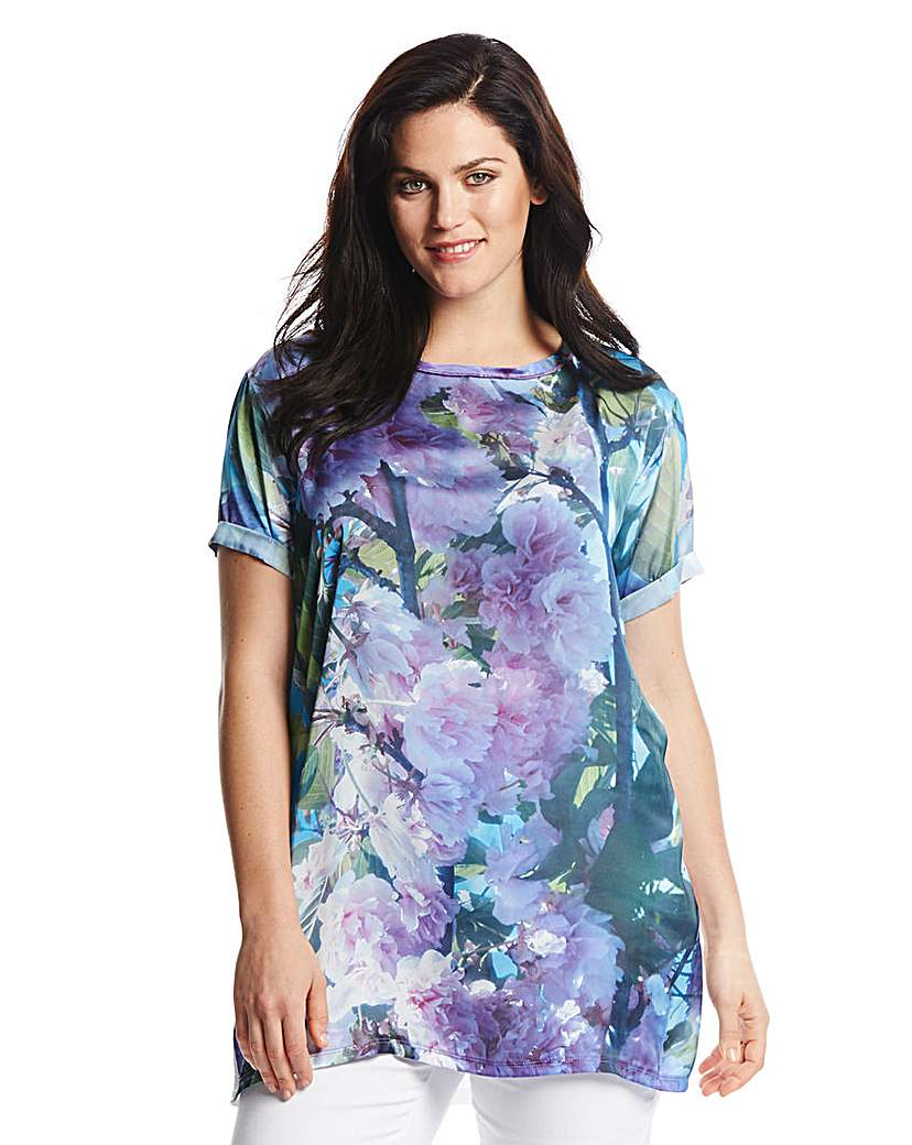Pamplemousse Print Front Top