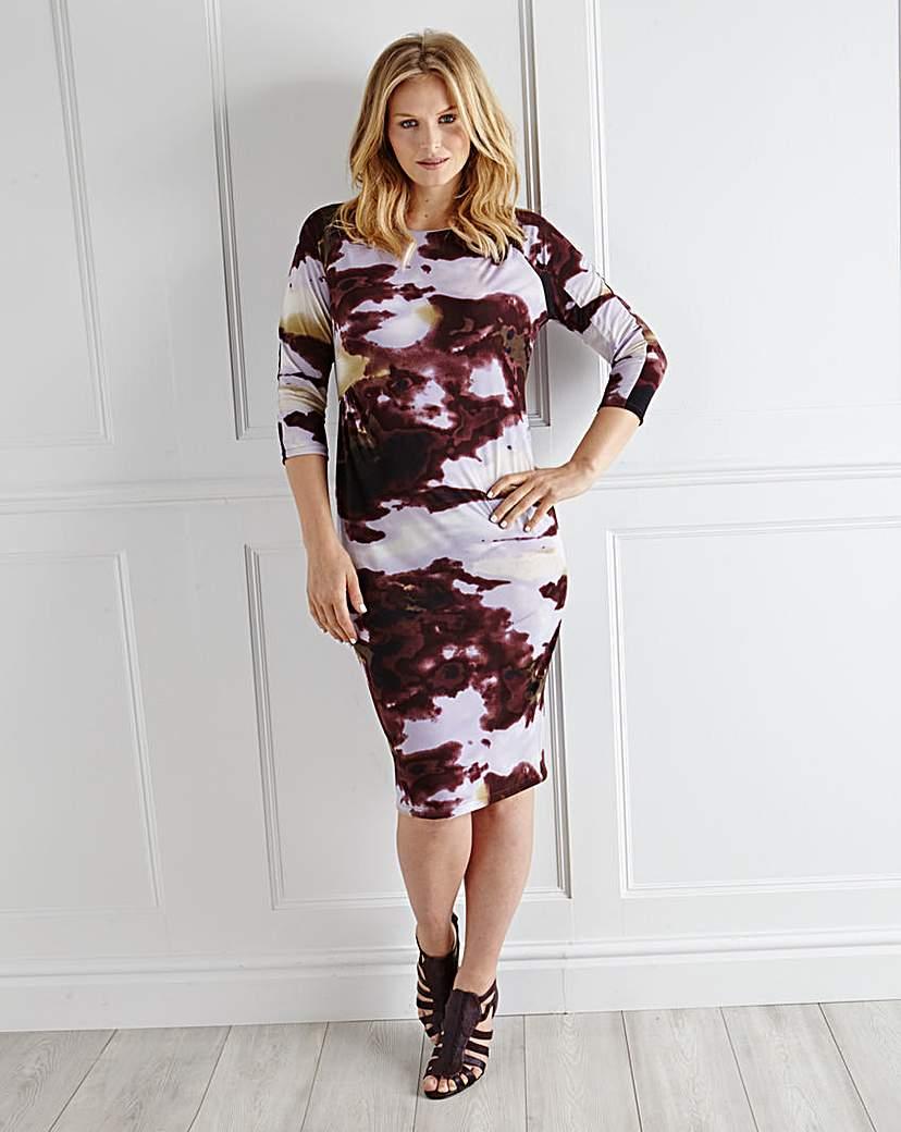 Ava By Mark Heyes Cloud Print Dress
