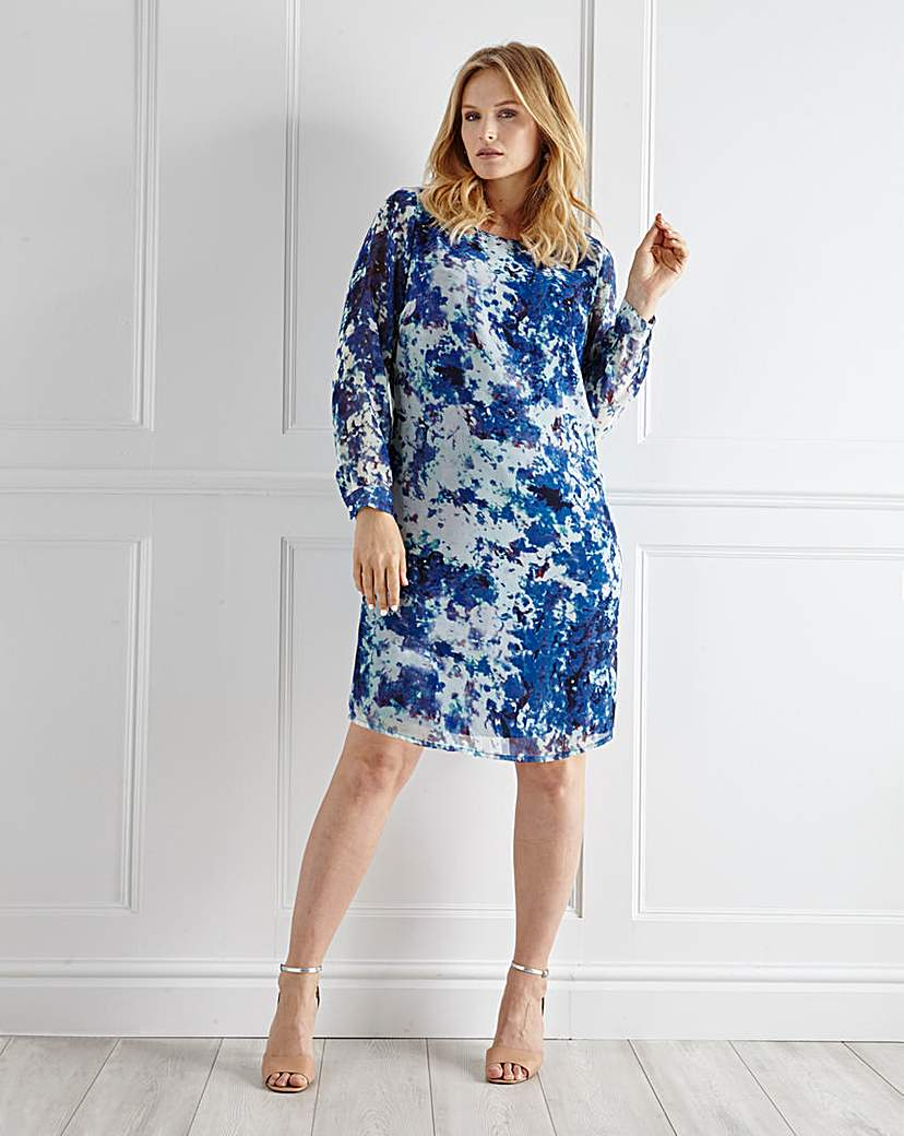 Image of Ava by Mark Heyes Blurred Print Dress