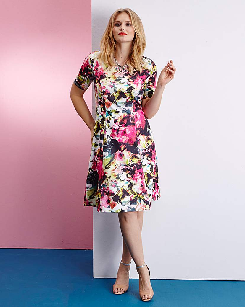 Edit Scuba Flared Dress