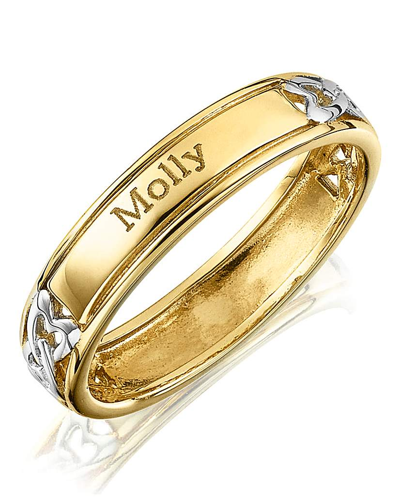 Image of Silver Personalised Two Name Ring