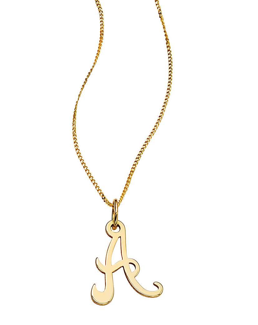 9 Carat Gold Initial Pendant