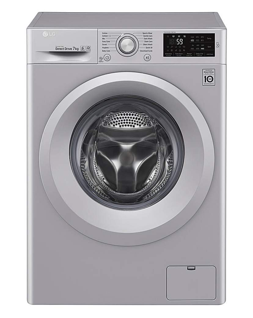 Image of LG 7KG 1400RPM WASHING MACHINE SILVER