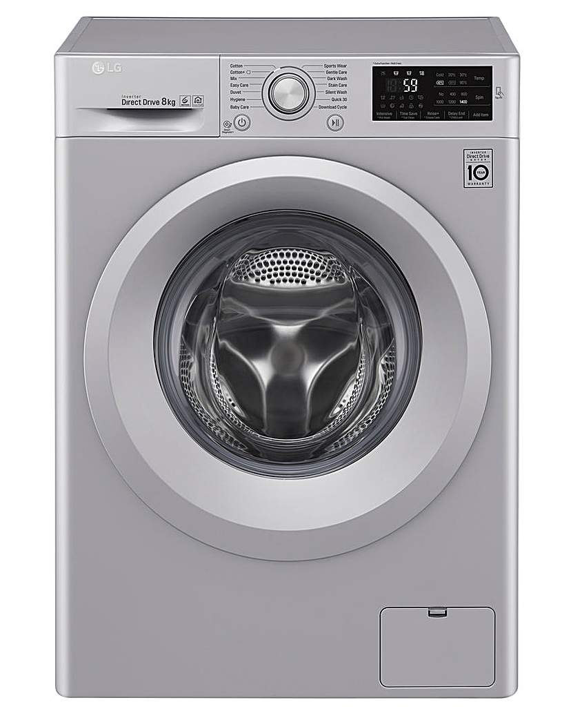 Image of LG 8kg 1400rpm Washing Machine Silver